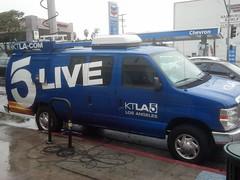 Media News Van at red curb