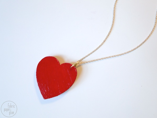 Wood Heart Necklace 6