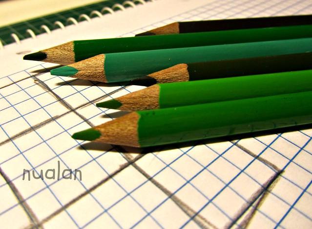 pintando en verde