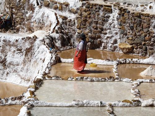 Las Salineras de Maras: piétinement du sel