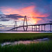 Burst of Color - Arthur Ravenel Jr. Bridge, Charleston, South Carolina [Explored] by jason_frye