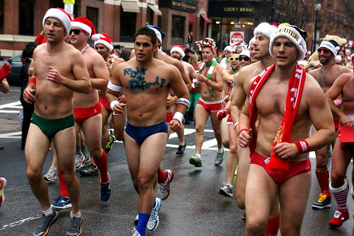 Santa Speedo Run 2012, Boston MA
