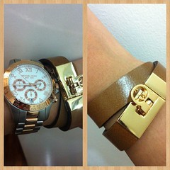 Loving my new leather accessories #envyfashionaccessories #michaelkorswatch