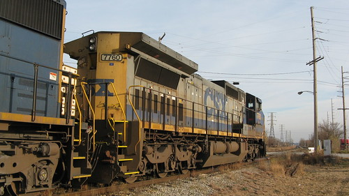 CSX Transportation Company diesel locomotives idling.  Hammond Indiana.  Sunday, November 25th, 2012. by Eddie from Chicago