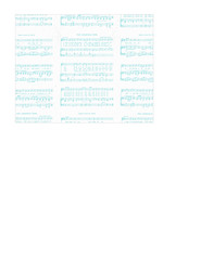 landscape A2 card size JPG Christmas Sheet Music WHITE & TURQUOISE Vintage GF SMALL SCALE