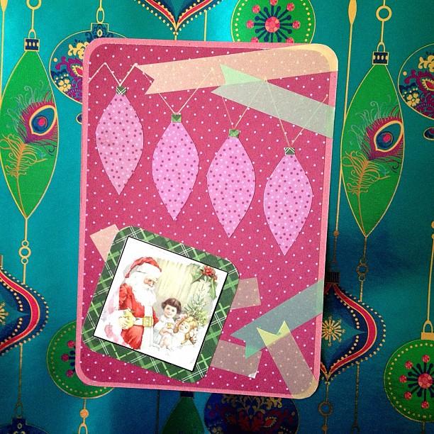 #christmas #postcard #santaclaus #fairylights #washitape #snailmail