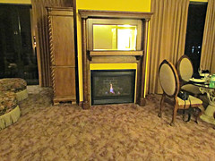The gas fire place
