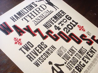 Hamilton Wood Type & Printing Museum Wayzgoose 2011 letterpress poster