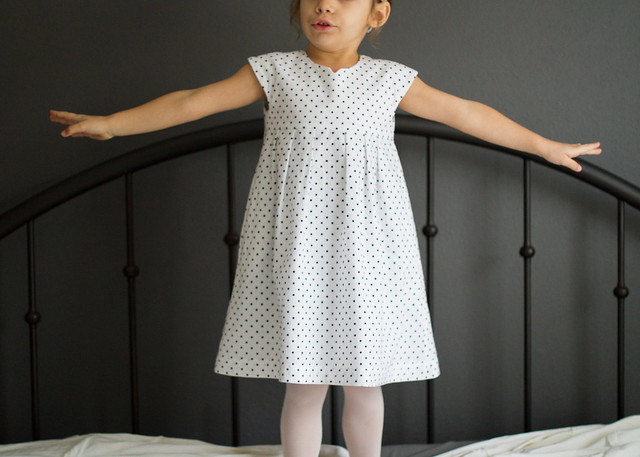 geranium snowflake dress