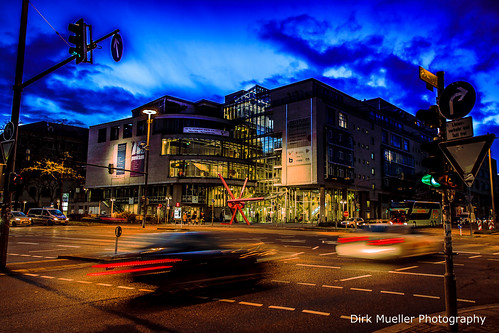 Stuttgart Traffic Night Life by Dirk Mueller Photography