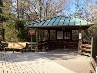Boardwalk pavilion at Six Mile Cypress Slough