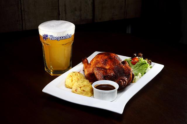 Bavarian Roast Whole Chicken + Hoegaarden