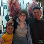 Erica with New Friends at Hurghada Market - Egypt