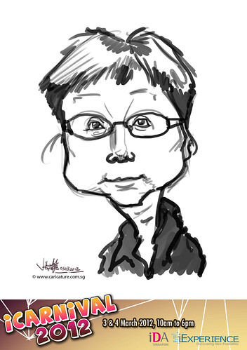 digital live caricature for iCarnival 2012  (IDA) - Day 1 - 52