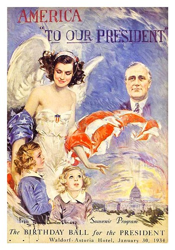 005-Roosevelt's Birthday Ball, 1934-Howard Chandler Christy -Lafayette College Special Collections