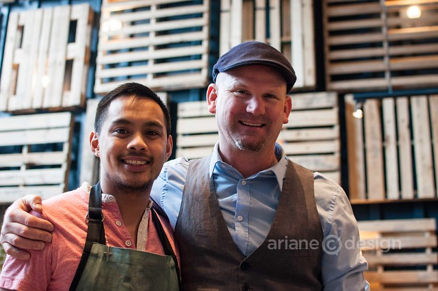 The Fish Shack: Executive Chef Alfred Contiga with oyster man Todd Atkinson