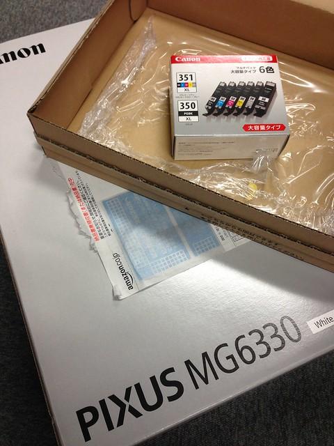 Pixus MG6330、届いた^_^