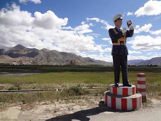 Chegada à cidade Gyantse Tibete