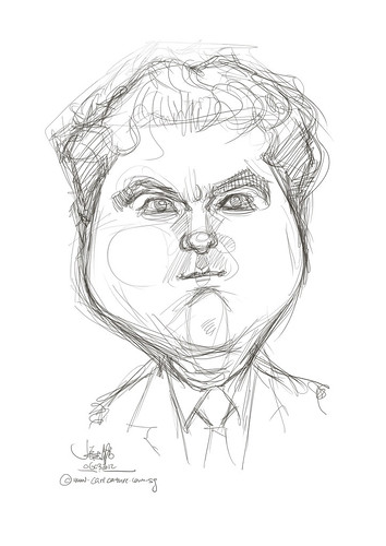 digital caricature of Itsik Krief for Hewlett Packard - 1
