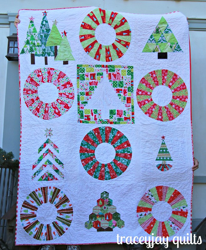 Christmas bee quilt finished!