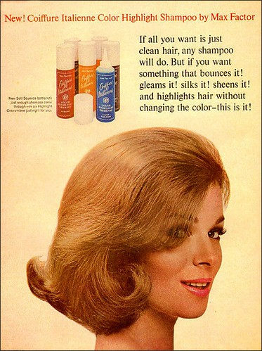 1965 MAX FACTOR COIFFURE ITALIENNE COLOR HIGHLIGHT SHAMPOO