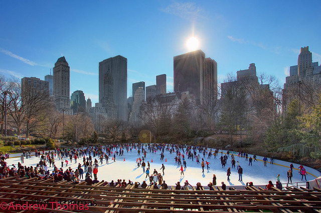 Winter skating in central park