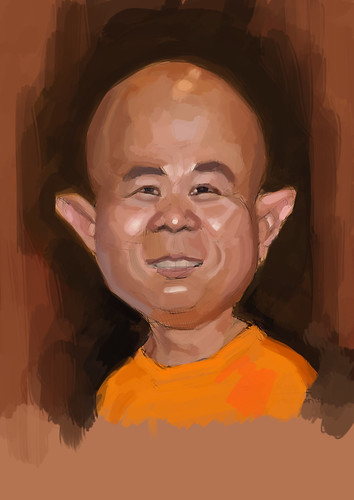 digital caricature for Hewlett Packard - 2