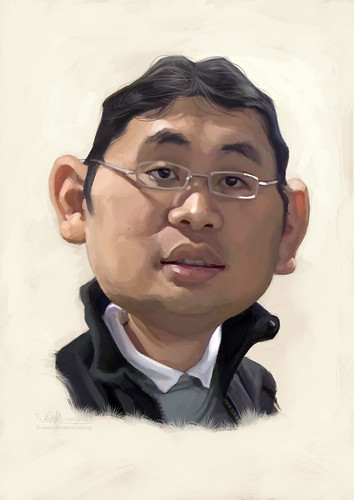 digital caricature of Goh Kok Leong (revised) for Hewlett Packard