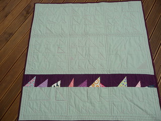 From 'Block Party' - Wonky triangles quilt - back