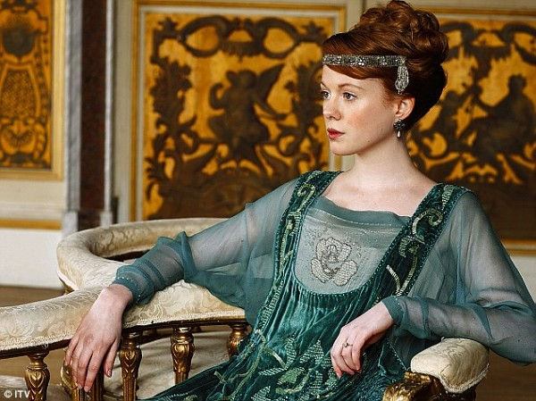 Sun Lavinia green dress downton