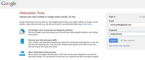3 login webmaster tools