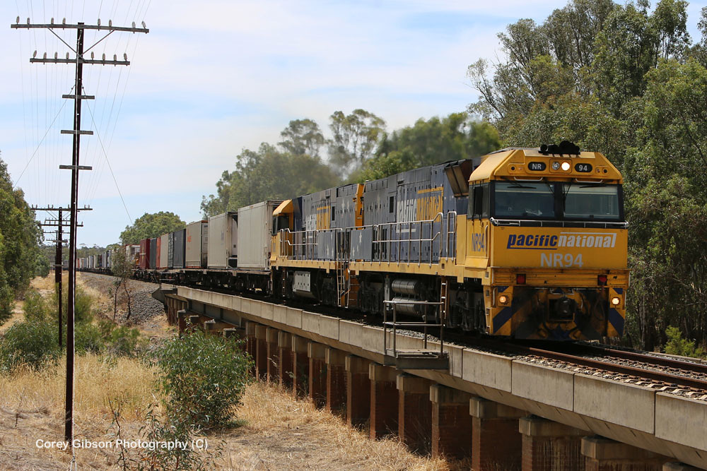 NR94 & NR80 Perth to Melbourne Freight by Corey Gibson