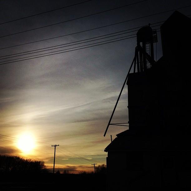 Old school grain elevator silhouette. #ilovekansas #latergram