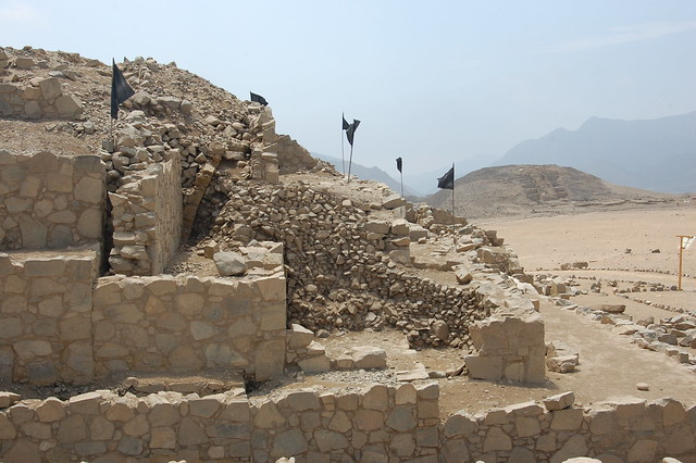 Pyramids in Restoration at Caral