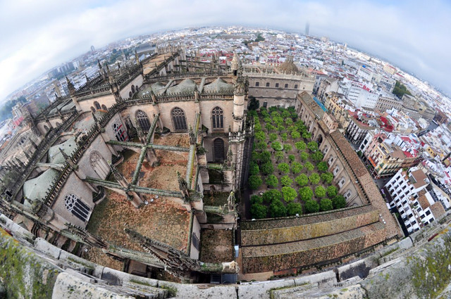 Vista exterior del Patio de los Naranjos Catedral de Sevilla, sepulcro de la historia de américa - 8323102288 aa2ced0e26 z - Catedral de Sevilla, sepulcro de la historia de américa