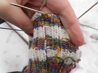 носки 9 перекрещенные нити на манжете
