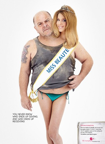 Fat guy and miss