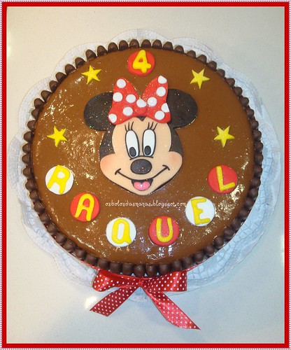 Bolo Chocomousse Minnie by Osbolosdasmanas