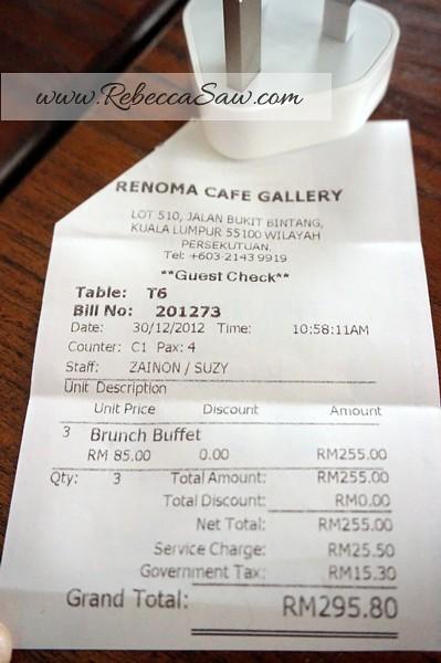renoma cafe gallery - sunday Brunch
