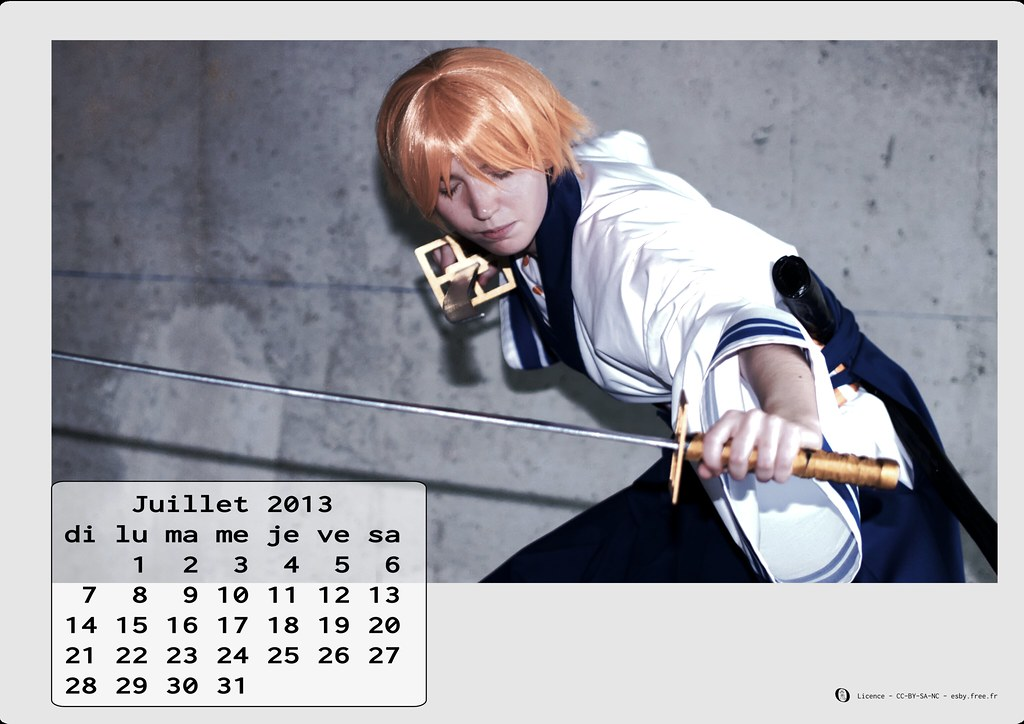 related image - Calendrier Cosplay 2013 - 07 - Juillet