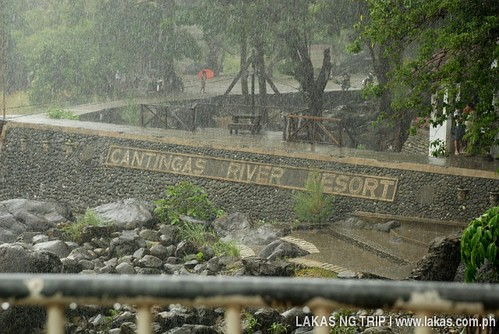 Rainy day at Cantingas River Resort in Baranggay Taclobo, San Fernando, SIbuyan Island, Romblon Province