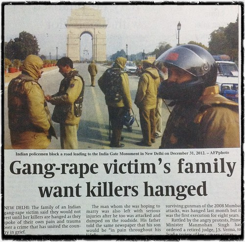 Gangraped victim's family want killers hanged