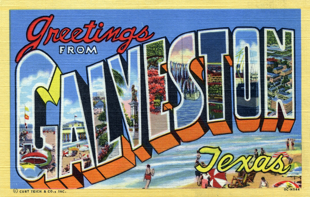 Greetings from galveston texas large letter postcard a photo on greetings from galveston texas large letter postcard m4hsunfo