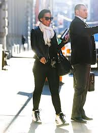 Alicia Keys Wedge Sneakers Celebrity Style Women's Fashion