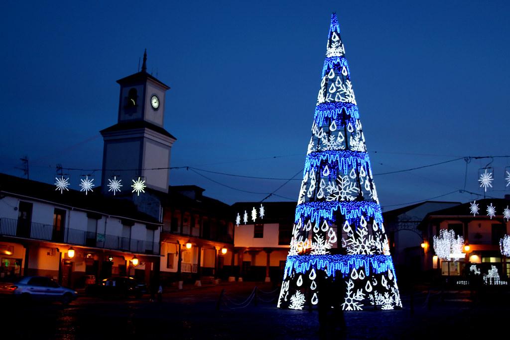 en la Navidad 12/13 la plaza del pueblo