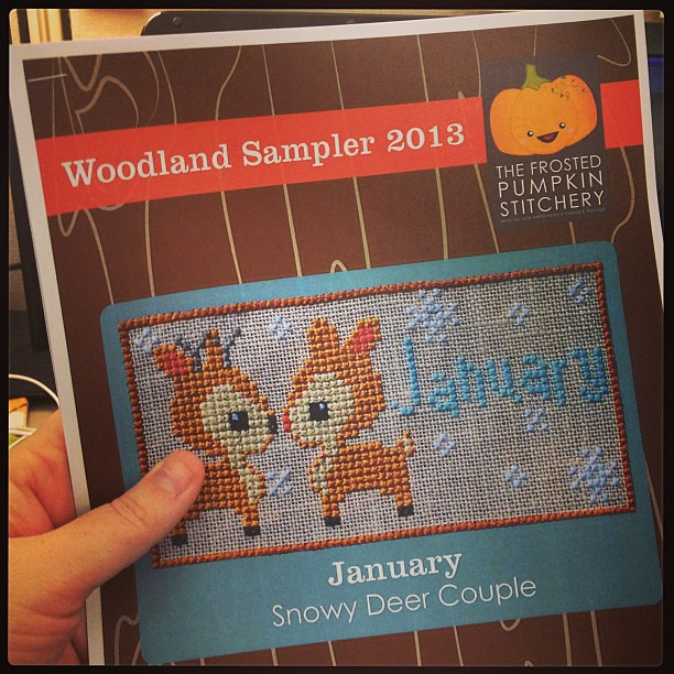 Eeek! Can't wait to start on this from The Frosted Pumpkin Stitchery, @heyporkchop ! #woodlandsampler