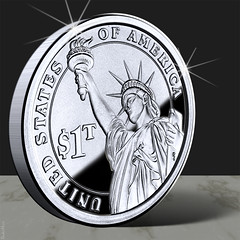 Trillion Dollar Coin by DonkeyHotey, on Flickr