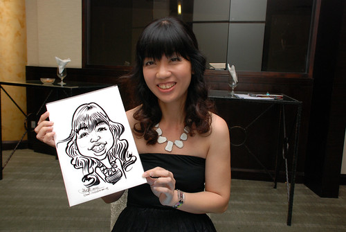 caricature live sketching for NUS - 11