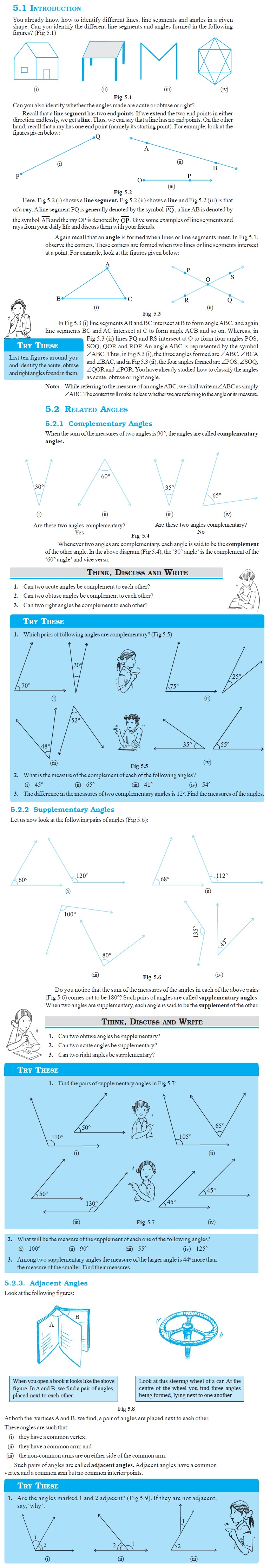 NCERT Class VII Maths Chapter 5 Lines and Angles