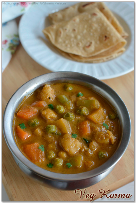 Vegetable Kurma For Chapathi Hotel Style Veg Kurma ...